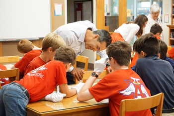 George P. Bush Teaches Map Lesson at IWA