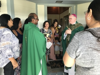 Bishop Mulvey presides over ribbon-cutting ceremony and blessing