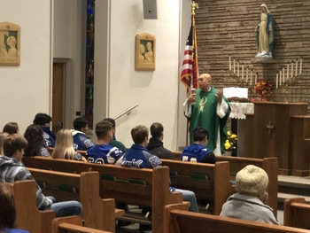 In George West, 'Friday Night Lights' begin with Friday morning Mass