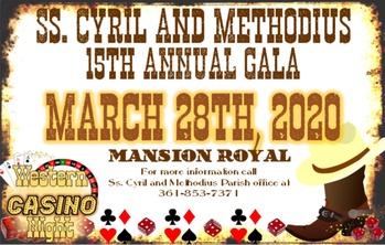 CANCELLED: Ss. Cyril and Methodius 15th Annual Gala