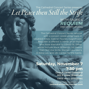 The Cathedral Concert series returns with a concert offering hope in troubled times