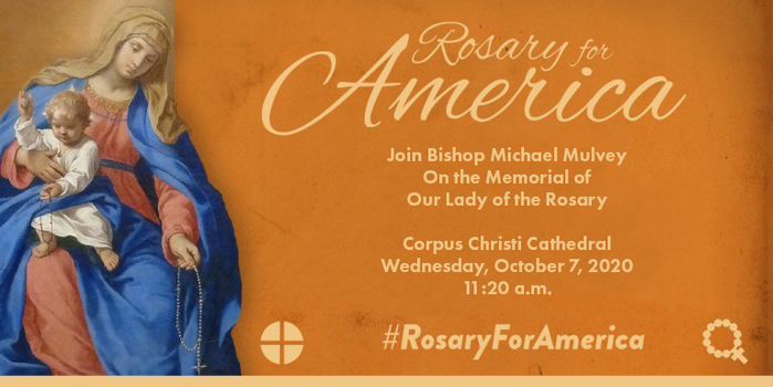Bishop Mulvey asks the faithful to pray the Rosary, Oct. 7