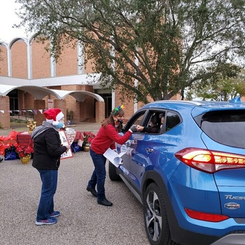 Catholic Charities hosts a Drive-thru Christmas for persons with disabilities