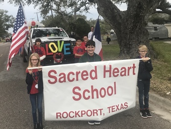 Sacred Heart School wins trophy for entry in Oysterfest Parade