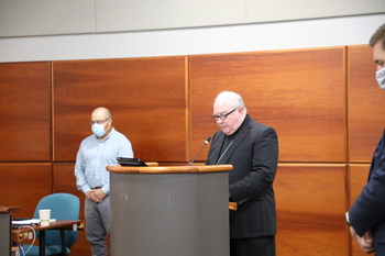 Bishop Mulvey gives strength in prayer for those affected by pipeline explosion