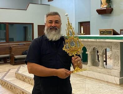 Sacred Heart Parish in Rockport is first to receive the Traveling Monstrance