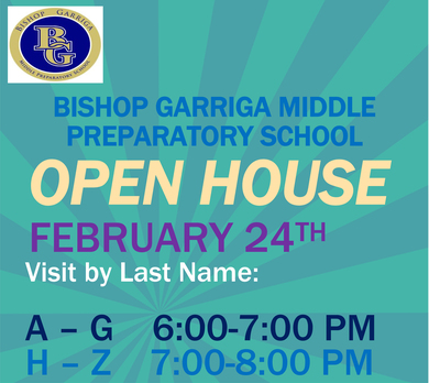 Bishop Garriga Middle Preparatory School is having an Open House