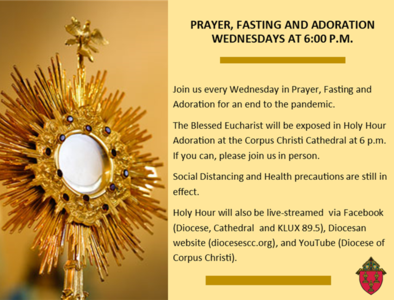 Prayer, Fasting and Adoration at 6 pm