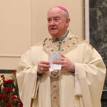 Bishop Mulvey celebrates Mass on the Feast of the Annunciation and his 11th anniversary as bishop