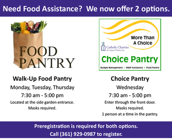 Catholic Charities to re-open the Choice Pantry