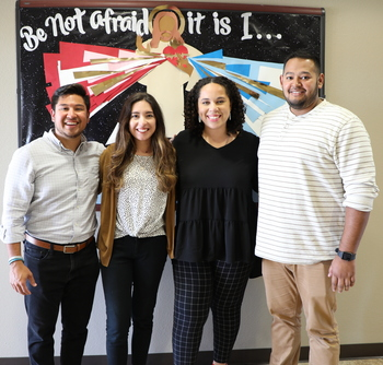 FOCUS missionaries bring the Word of God to students on the Kingsville campus