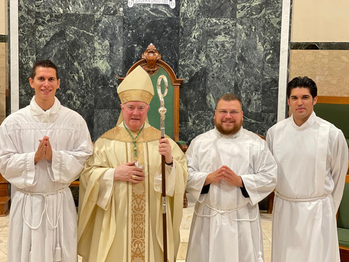 Three seminarians accepted to Candidacy for Holy Orders