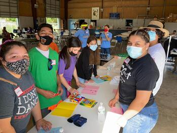 Holy Family youth and adults serve the community during 'Let's Color our City'