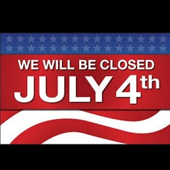Office Closed Fourth of July