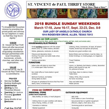 Bundle Sunday - SVDP