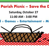Save the Date for the Parish Picnic on October 27