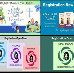 Faith Formation Registration Now OPEN!