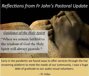 Reflecting on Fr. John's Pastoral Update (2)