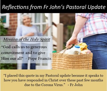 Reflecting on Fr. John's Pastoral Update (1)