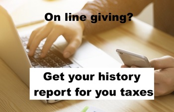 How to Obtain a Print-Out of Your Online Giving History