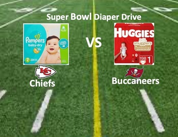 Super Bowl Diaper Drive February 6 and 7