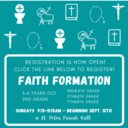 Registration for Faith Formation is Now Open!
