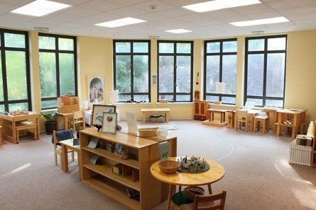A beautiful example of a Catechesis of the Good Shepherd Atrium (Classroom)
