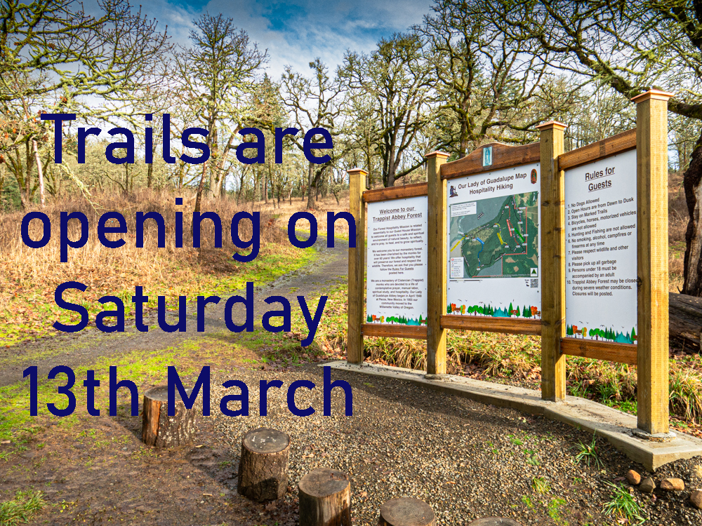 Trails Re-Opening Saturday 13th March