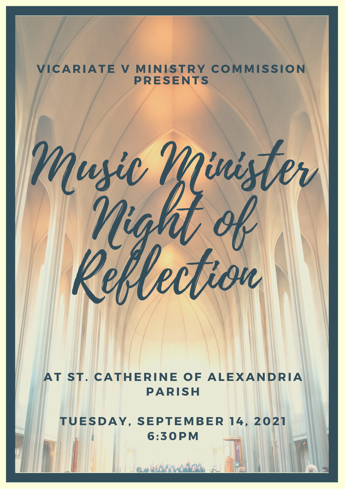 Music Minister Night of Reflection