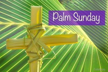 SERVICES CANCELLED - Palm Sunday
