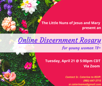 Zoom Discernment Rosary for Women (18+)