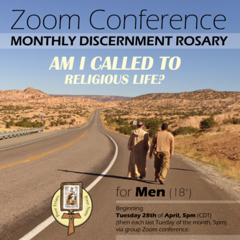 Zoom Monthly Discernment Rosary for Men (18+)