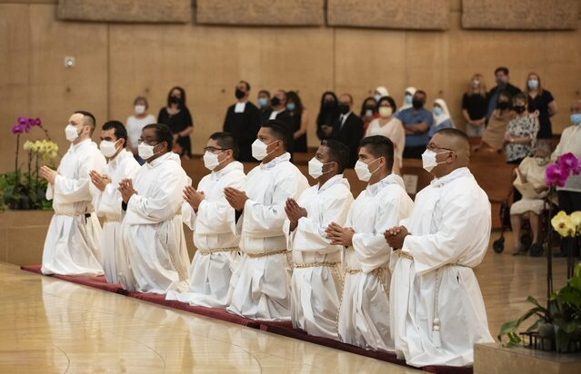 'A huge step back to normalcy': Eight transitional deacons ordained for LA
