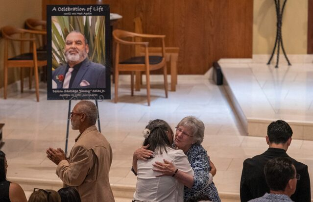 Long Beach parish says a final farewell to the deacon who 'never gave up'