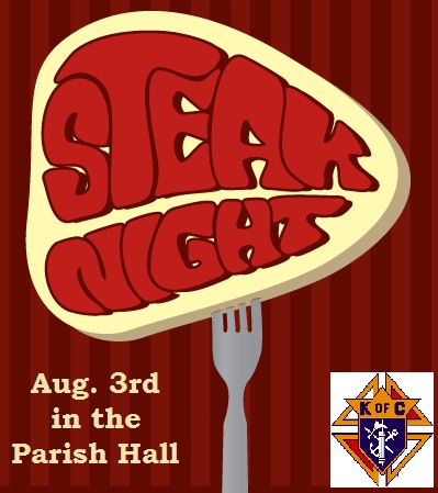 Steak Night presented by the KofC