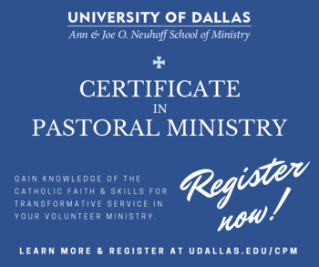 UD Pastoral Ministry Certification - Intro to the New Evangelization