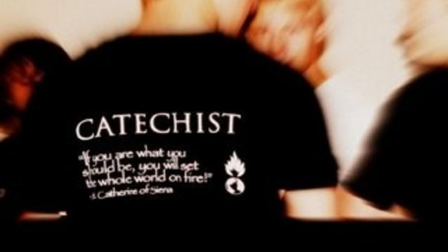 Catechist-pronounciation: \'ka-tə-kist\ - noun:one who teaches the essentials of Christian faith and morals. The term also has the technical meaning of one who gives instruction in Catholic doctrine. As one of the supernatural charisms of knowledge, it is the special gift of being able to teach the faith with extraordinary effectiveness.