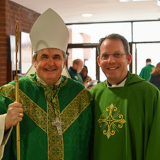 Bishop Fisher and Msgr. Panke