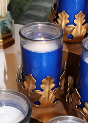 Blue Votive Candle