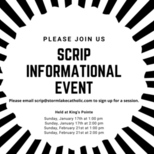 SCRIP INFORMATIONAL EVENT
