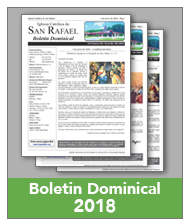 Boletin Dominical de San Rafael 2018