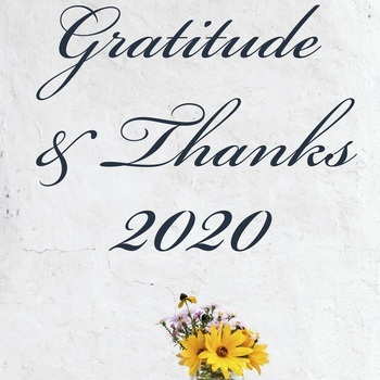 Gratitude and Thanks for 2020 • Hope for 2021