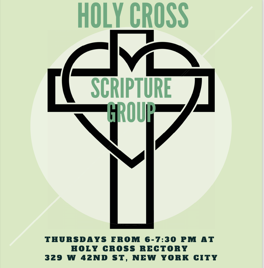 The Holy Cross Scripture Group meets every Thursday from 6:00 – 7:30pm in the Rectory, and features inspiring videos, discussion of scripture, encouraging fellowship and prayer. Each week we watch a fascinating sermon by Bishop Robert Barron about the previous Sunday's Gospel. We explore the meaning of the scripture together, as each participant has the chance to express how the words of the Gospel apply to the struggles and joys of their lives. We conclude by saying a prayer, with the opportunity for all to petition God to fulfill the needs of their lives. The Scripture Group was founded by Ed Greene of Lamp Missionaries. Please note: You must show proof of COVID vaccination to enter the rectory.