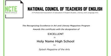 Splash Magazine of the Arts receives 'Excellent' ranking in NCTE REALM Program