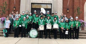 Band & Drill Team Perform in St. Rocco Parade