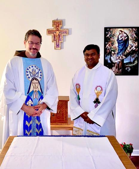 Father Remo and Father Praveen at Our Lady of Angels