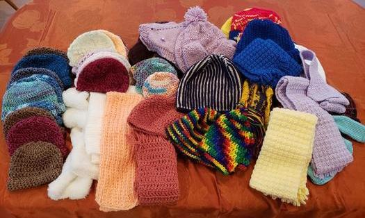 Hats and Scarves donated 2019 | Prayer Shawl Ministry | St John the Apostle Catholic Church | Leesburg VA