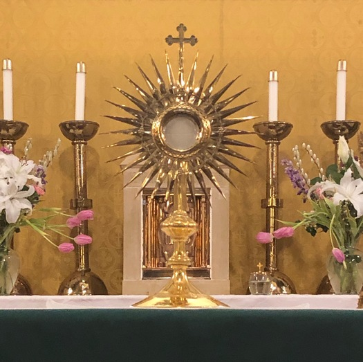 monstrance - chapel | Eucharistic Adoration Ministry | St John the Apostle Catholic Church | Leesburg VA