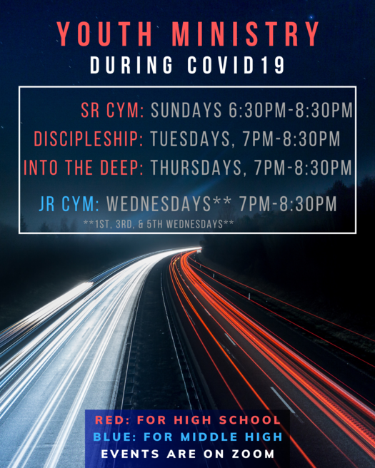 CYM Response to Covid19 | Catholic Youth Ministry | St. John the Apostle Catholic Church | Leesburg VA