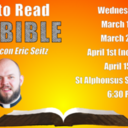 How to Read the Bible - will be livestreamed at the 6:30 PM on March 18th, as planned